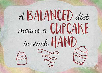 A Balanced Diet Art Print