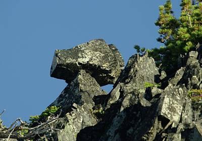 Water Droplets Sharon Johnstone - A Balancing Rock  by Jeff Swan