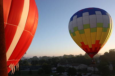 Photograph - A Balloons View by Kimber  Butler