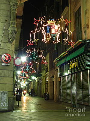 Photograph - A Barcelona Christmas by Suzanne Oesterling