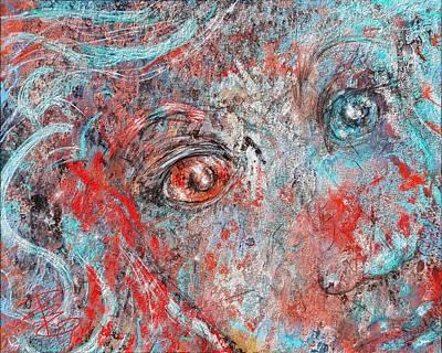A Bare And Broken Rocky Face Art Print by Debra Baldwin