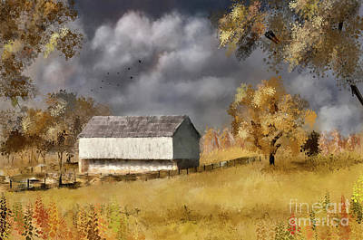 Digital Art - A Barn At The Poffenberger Farm by Lois Bryan