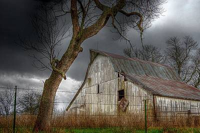 Photograph - A Barn In The Storm 2 by Karen McKenzie McAdoo