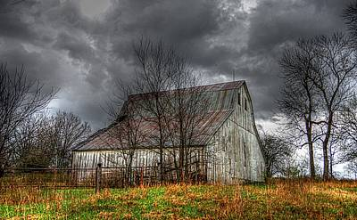A Barn In The Storm 3 Art Print