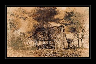 Photograph - A Barn In The Storm by Karen McKenzie McAdoo