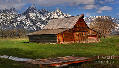 A Barn In The Tetons Art Print by Adam Jewell