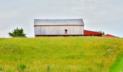 Photograph - A Barn On A Hill by Lisa Wooten
