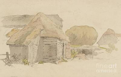Old Barn Painting - A Barn by MotionAge Designs