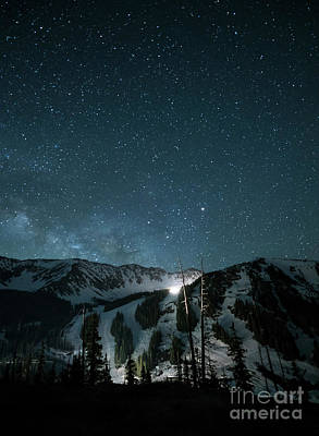 Ski Resort Photograph - A-basin At Night by Juli Scalzi