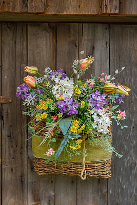 Photograph - A Basket Of Petals by Guy Whiteley
