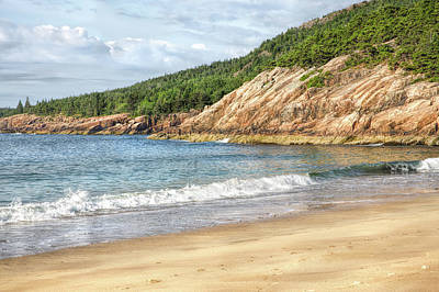 Photograph - A Beach In Maine by John M Bailey