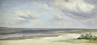 Sandy Beaches Painting - A Beach On The Baltic Sea At Laboe by Jacob Gensler