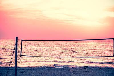A Beach Volleyball Net  Art Print