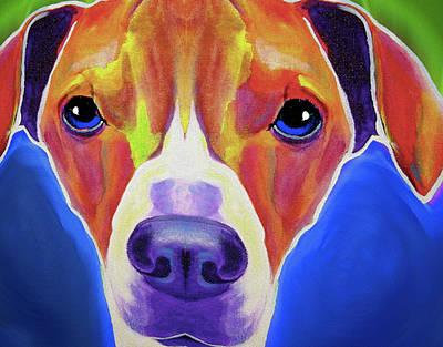 A Beagle By Nixo Art Print