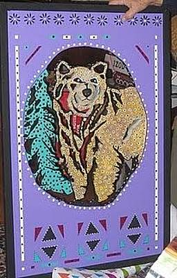 Stencil Of Elvis Mixed Media - A Bear For Dad by Robert Margetts