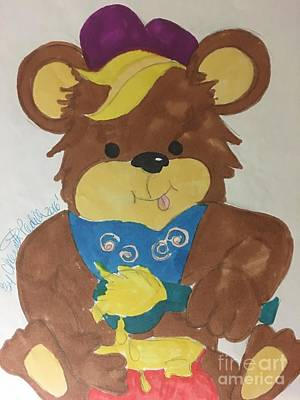 Drawing - A Bear Loves Honey by Charita Padilla