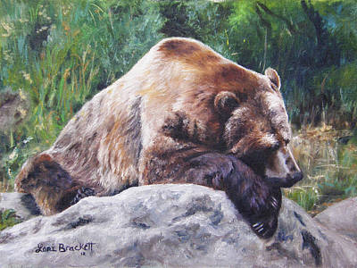 Painting - A Bear Of A Prayer by Lori Brackett