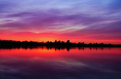 Sunrise At Sloan's Lake Art Print