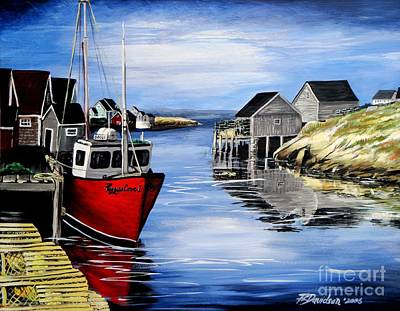 A Beautiful Day At Peggy's Cove  Art Print by Patricia L Davidson