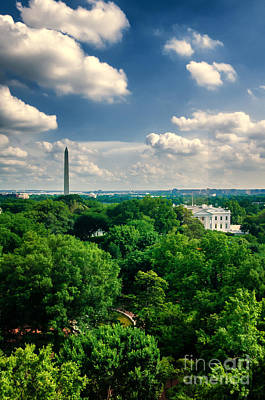 A Beautiful Day In Dc Art Print by Jim Moore