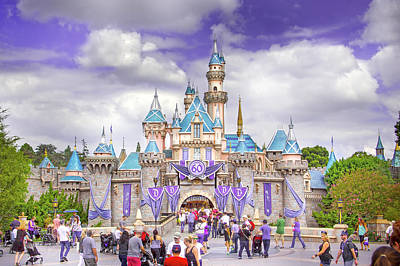Lucille Ball - A Beautiful Day in Disneyland by Mark Andrew Thomas