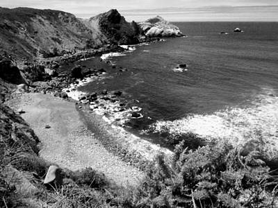 Photograph - A Beautiful Day On The Ca Coast 4 In Black And White by Joyce Dickens