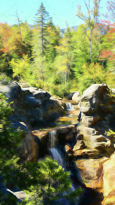 Photograph - A Beautiful Fall Day At Screw Auger Falls In Grafton Notch State by Rusty R Smith