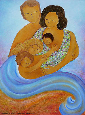 A Beautiful Family Art Print by Gioia Albano