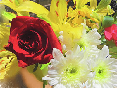 Photograph - A Beautiful Flower Arrangement. by Rusty R Smith