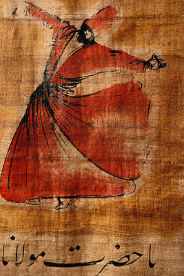 Turkey Photograph - A Beautiful Painting Of A Whirling by Gianluca Colla