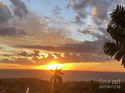 Photograph - A Beautiful Sunset Sky In Hawaii by Karen Nicholson
