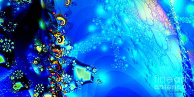 Digital Art - A Beautiful World by Claire Bull