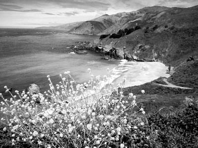 Photograph - A Beauytiful Day On The Ca Coast 1 In B And W by Joyce Dickens