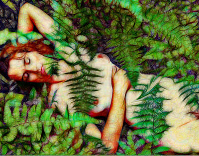 Digital Art - A Bed Of Ferns by William Sargent