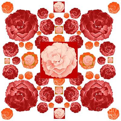 Digital Art - A Bed Of Roses by Helena Tiainen