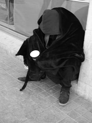 Photograph - A Beggar In Jerusalem by Esther Newman-Cohen