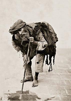 A Beggar In Tehran Art Print by MotionAge Designs