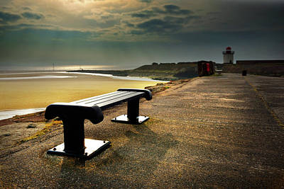 Photograph - A Bench By The Sea by Phil Fitzsimmons