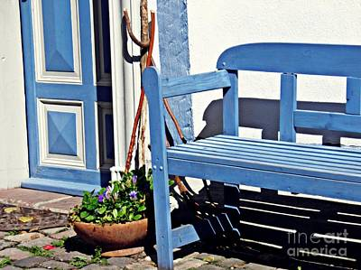Photograph - A Bench In Eltville 3 by Sarah Loft