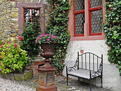 Photograph - A Bench In Eltville by Sarah Loft
