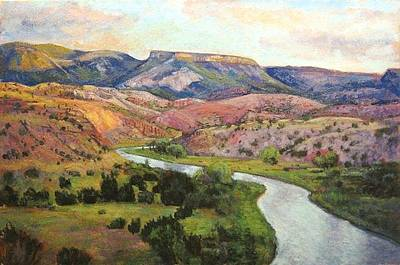 Chama River Painting - A Bend In The River Chama by Trinon Crouch