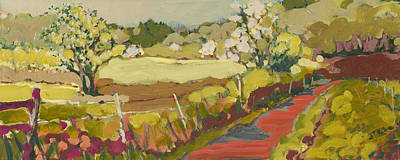 Apple Orchards Painting - A Bend In The Road by Jennifer Lommers