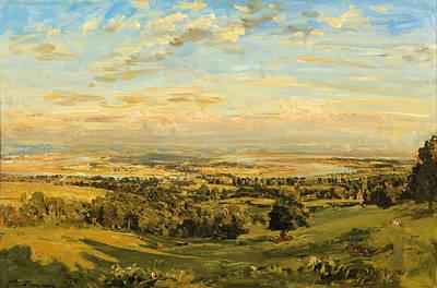 Steer Painting - A Bend Of The Severn Littledean by Philip Wilson Steer