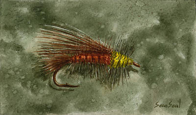 Flyfishing Painting - A Better Stimi by Sean Seal