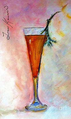 Glass Painting - A Beverage With A Twig Garnish Painting by Lisa Kaiser