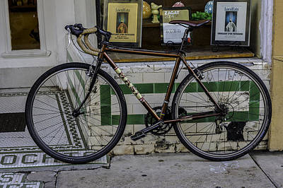 Photograph - A Bicycle In The French Quarter, New Orleans, Louisiana by Printed Pixels