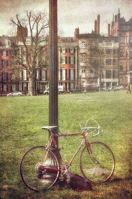 Photograph - A Bicycle On Boston Common by Joann Vitali