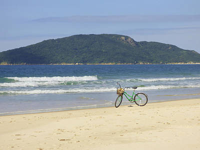 Photograph - A Bike At The Beach by Helissa Grundemann
