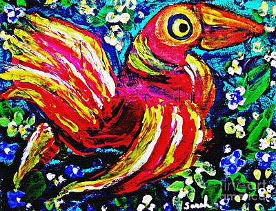 Painting - A Bird Imagined by Sarah Loft