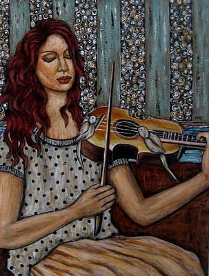 Rain Ririn Painting - A Bird's Song by Rain Ririn